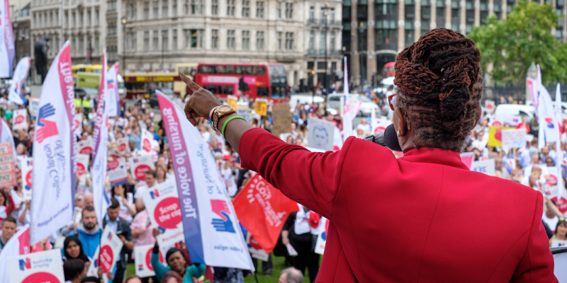 Cecilia Anim at RCN pay rally