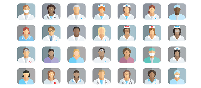 illustration of diverse nursing workforce