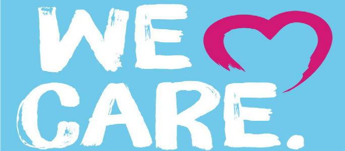 Logo for We Care campaign
